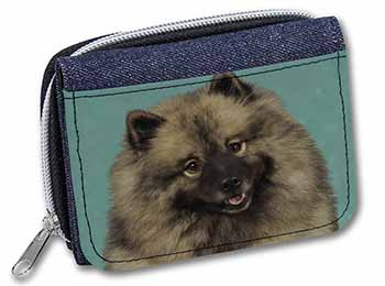 Keeshond Dog Girls/Ladies Denim Purse Wallet Birthday Gift Idea
