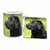Black Labrador Dog Mug+Coaster Christmas/Birthday Gift Idea
