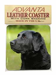 Black Labrador Dog Single Leather Photo Coaster Perfect Gift