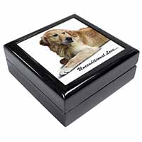 Golden Retriever-With Love Keepsake/Jewellery Box Christmas Gift