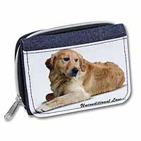 Golden Retriever-With Love Girls/Ladies Denim Purse Wallet Christmas Gift Idea