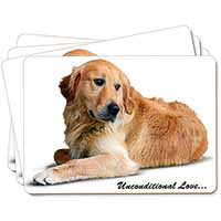 Golden Retriever-With Love Picture Placemats in Gift Box