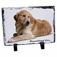Golden Retriever-With Love Photo Slate Christmas Gift Ornament