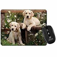 Yellow Labrador Puppies Computer Mouse Mat Birthday Gift Idea