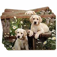 Yellow Labrador Puppies Picture Placemats in Gift Box