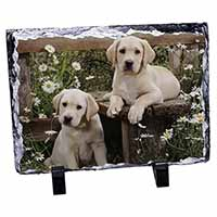 Yellow Labrador Puppies Photo Slate Photo Ornament Gift