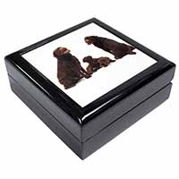 Chocolate Labrador Puppies Keepsake/Jewel Box Birthday Gift Idea
