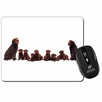 Chocolate Labrador Puppies Computer Mouse Mat Birthday Gift Idea