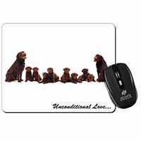 Chocolate Labradors-Love Computer Mouse Mat Birthday Gift Idea
