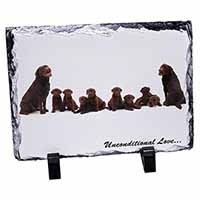 Chocolate Labradors-Love Photo Slate Photo Ornament Gift