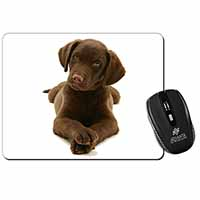Chocolate Labrador Puppy Dog Computer Mouse Mat Birthday Gift Idea