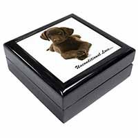 Chocolate Labrador Puppy Keepsake/Jewellery Box Christmas Gift