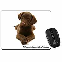 Chocolate Labrador Puppy Computer Mouse Mat Christmas Gift Idea