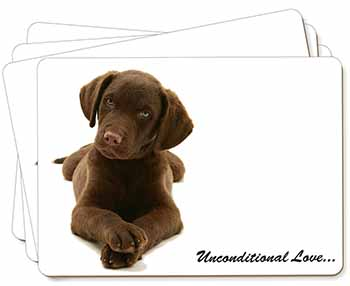 Chocolate Labrador Puppy Picture Placemats in Gift Box