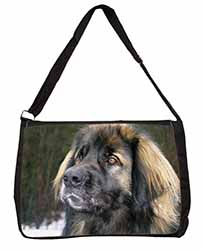 Black Leonberger Dog Large Black Laptop Shoulder Bag School/College