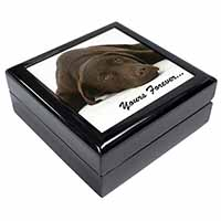Chocolate Labrador Dog Love Keepsake/Jewel Box Birthday Gift Idea