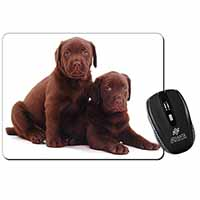 Chocolate Labrador Puppy Dogs Computer Mouse Mat Birthday Gift Idea