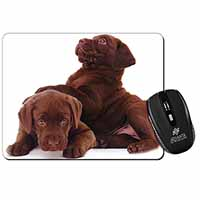 Chocolate Labrador Puppies Computer Mouse Mat Christmas Gift Idea