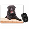 Black Labrador Dog Computer Mouse Mat Christmas Gift Idea