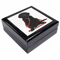 Black Goldador Dog Keepsake/Jewellery Box Birthday Gift Idea