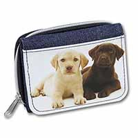 Labrador Puppy Dogs Girls/Ladies Denim Purse Wallet Birthday Gift Idea