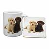 Labrador Puppy Dogs Mug+Coaster Christmas/Birthday Gift Idea