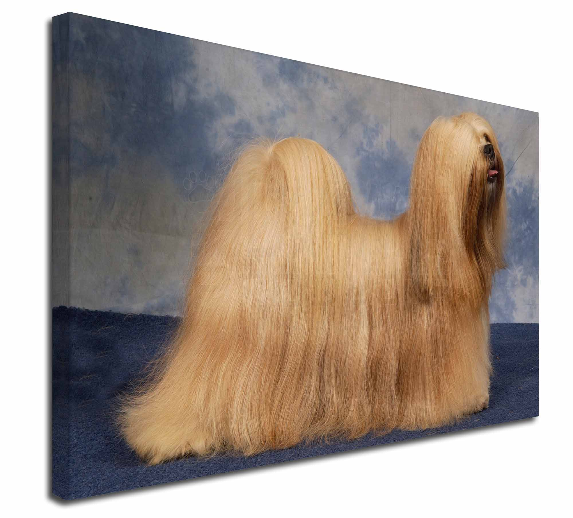 Perfect Gift Lhasa Apso Breed of Dog Themed Welsh Slate Coaster