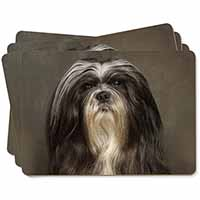 Lhasa Apso Dog Picture Placemats in Gift Box