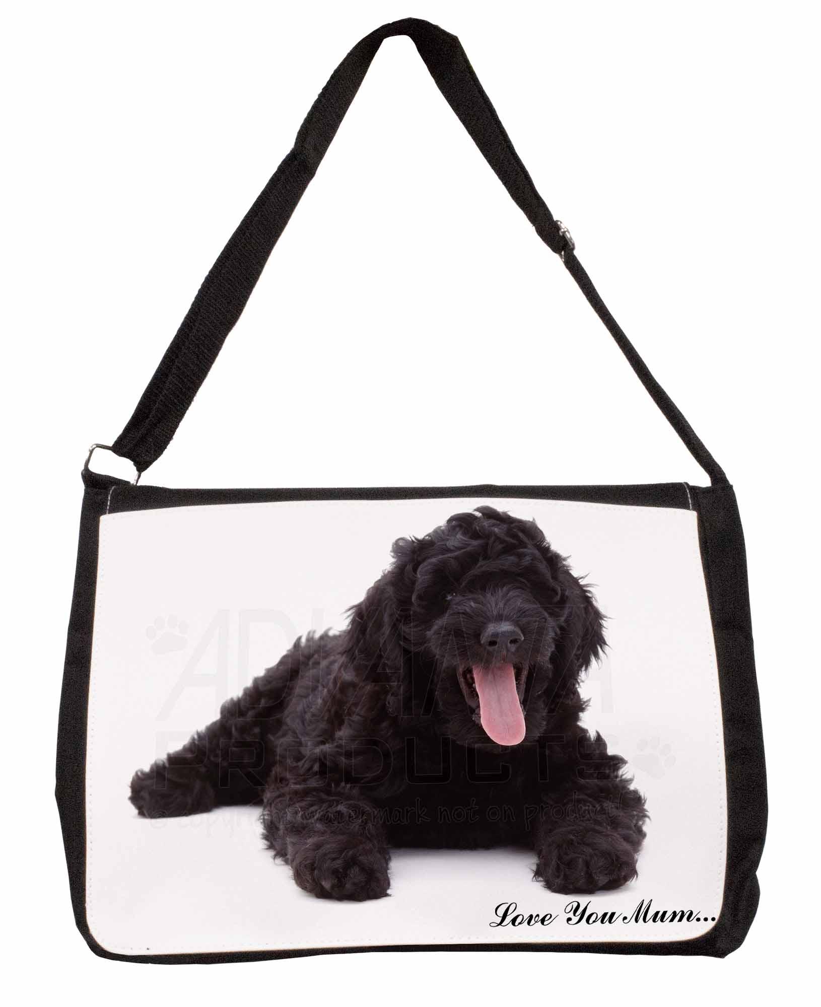 Westie Dogs /'Love You Mum/' Large Black Laptop Shoulder Bag School//Co AD-W1lymSB