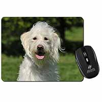 White Labradoodle Dog Computer Mouse Mat Birthday Gift Idea