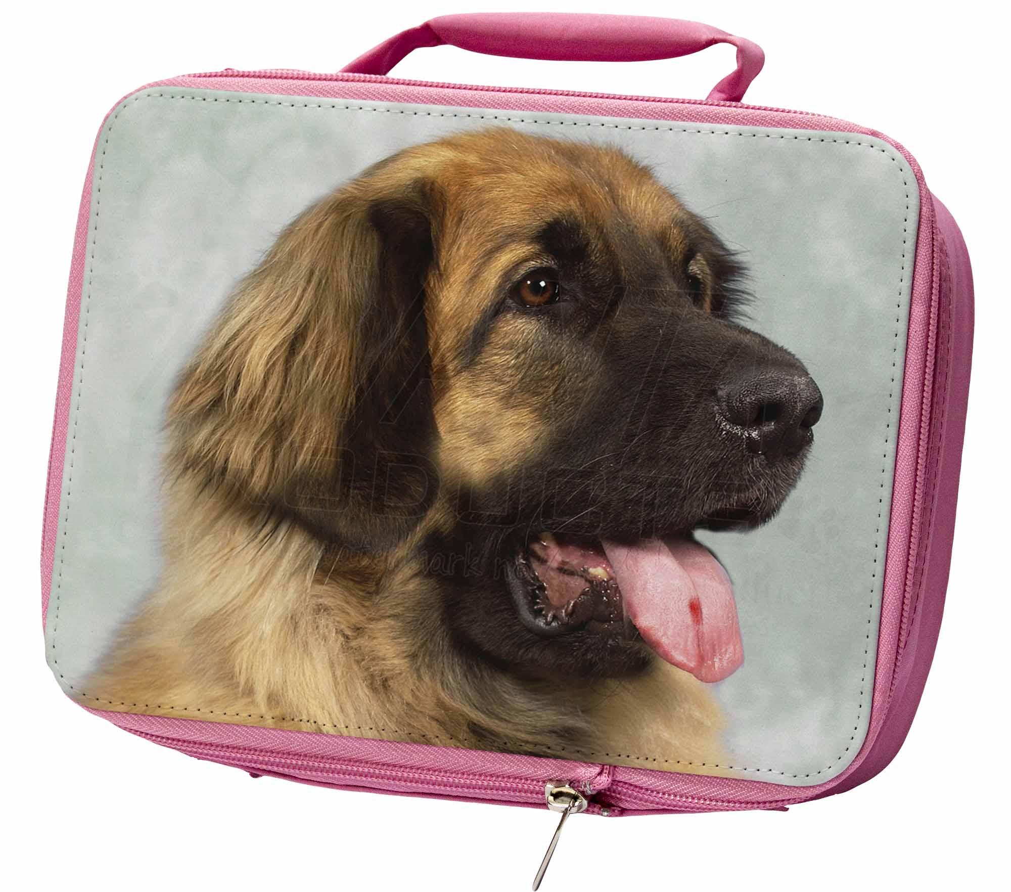 BIONDA LEONBERGER cane ERMETICA rosa scatola del pranzo per scuola