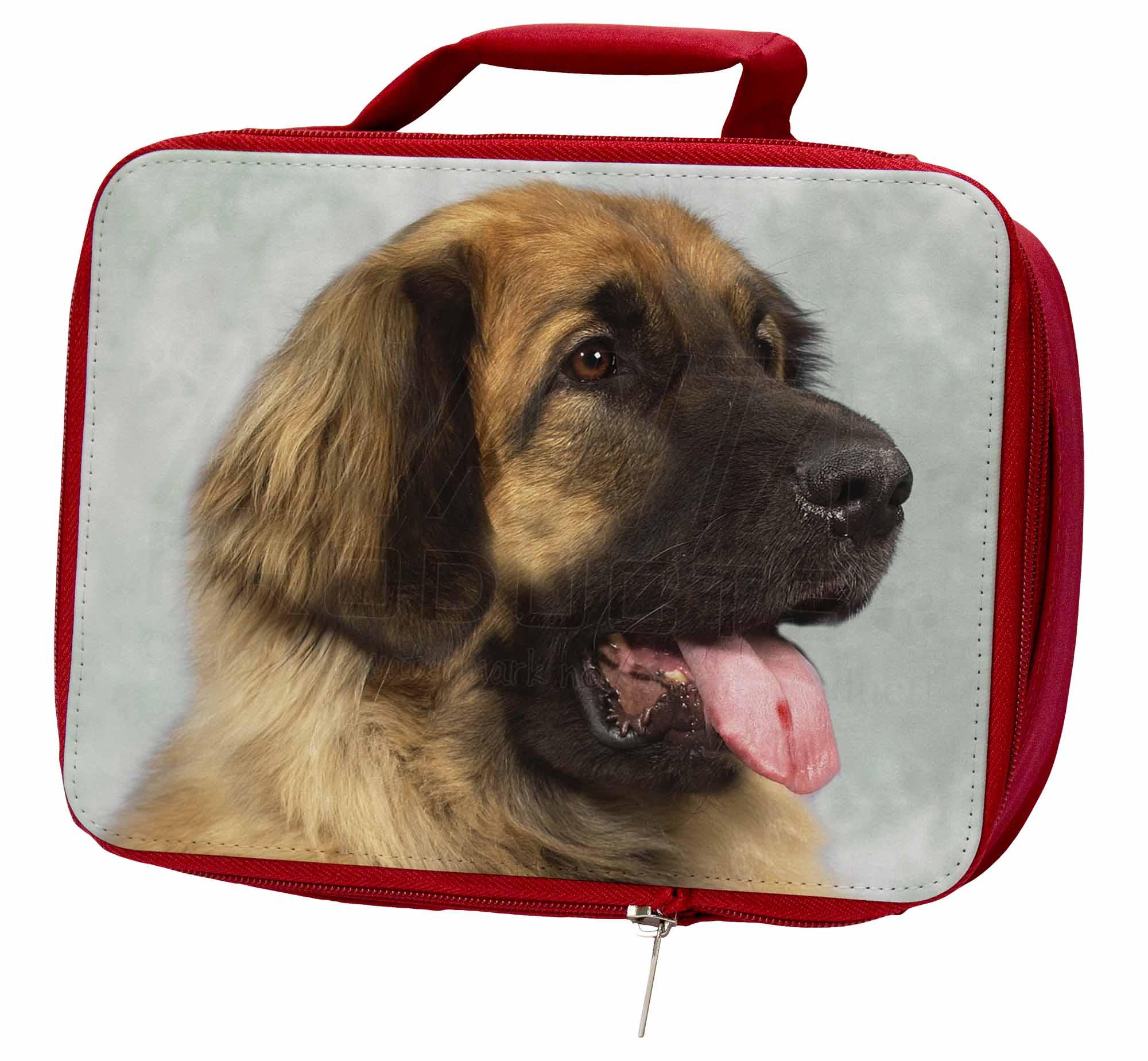 BIONDA LEONBERGER cane ERMETICA ROSSO SCATOLA del pranzo per scuola / Borsa da