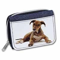 Lurcher Dog Girls/Ladies Denim Purse Wallet Birthday Gift Idea