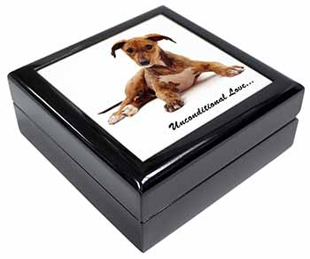 Lurcher Dog-With Love Keepsake/Jewel Box Birthday Gift Idea