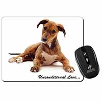 Lurcher Dog-With Love Computer Mouse Mat Birthday Gift Idea