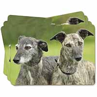 Lurcher Dog Print Picture Placemats in Gift Box