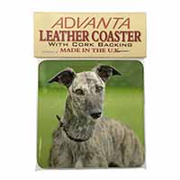 Lurcher Dog Single Leather Photo Coaster Perfect Gift