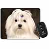 Maltese Dog Computer Mouse Mat Christmas Gift Idea