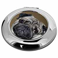 Cute Pug Dog Make-Up Round Compact Mirror Girly Gift