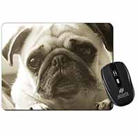 Cute Pug Dog Computer Mouse Mat Birthday Gift Idea