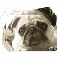 Cute Pug Dog Picture Placemats in Gift Box