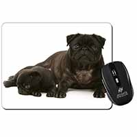 Pug Dog and Puppy Computer Mouse Mat Birthday Gift Idea