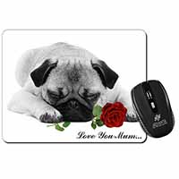 Pug (B+W) with Rose