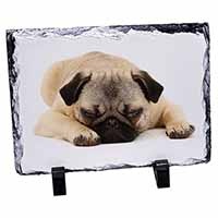 Pug Dog Photo Slate Photo Ornament Gift