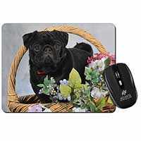 Black Pug Dog Computer Mouse Mat Birthday Gift Idea