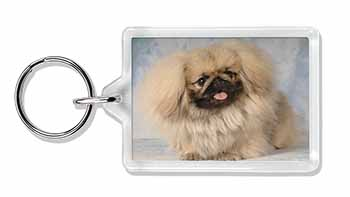 Pekingese Dog Photo Keyring Great Gift