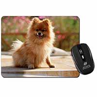 Pomeranian Dog on Decking Computer Mouse Mat Birthday Gift Idea