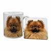 Pomeranian Dog Mug+Coaster Christmas/Birthday Gift Idea