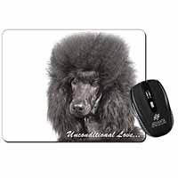 Black Poodle-With Love Computer Mouse Mat Birthday Gift Idea