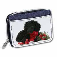 Christmas Poodle Girls/Ladies Denim Purse Wallet Birthday Gift Idea